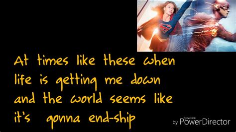 Super Friends Lyrics Supergirl and the Flash crossover