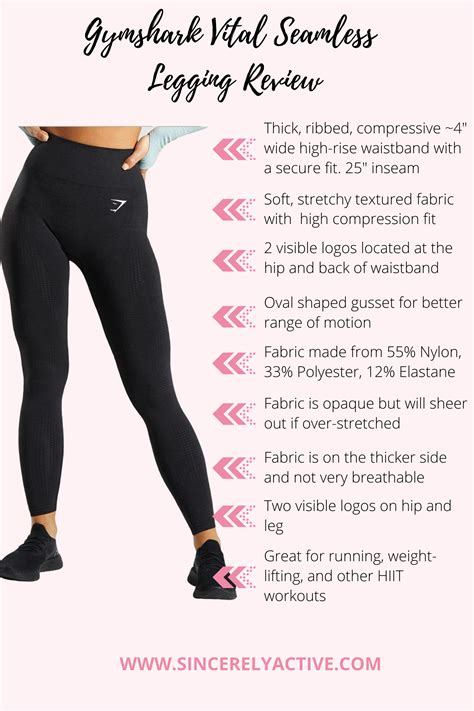 The Ultimate Gymshark Legging Shopping Guide   Sincerely