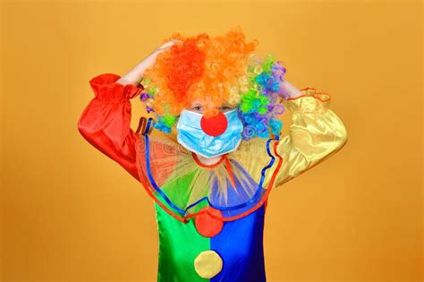 Clown Does Magic Trick - Isolated Stock Photo - Image of