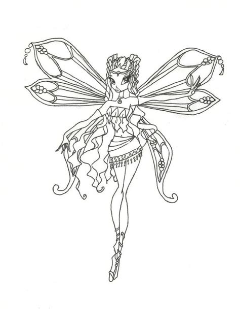 Winx Club Bloom Enchantix Coloring Pages - Coloring Home