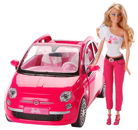 Barbie Fiat with Barbie Doll - Toys & Games - Dolls