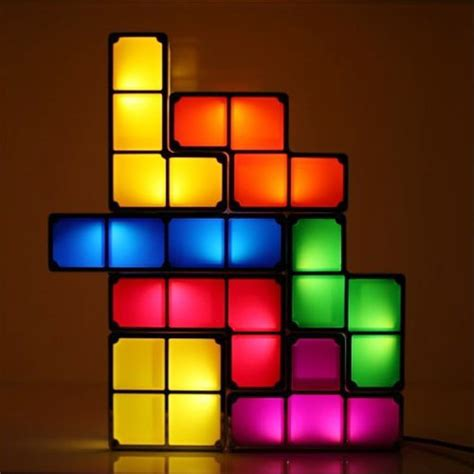 Innovatively Designed Tetris Lamp Classic DIY 3D Stackable