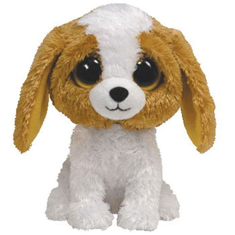 TY Beanie Boos - COOKIE the Brown Dog (Solid Eye Color