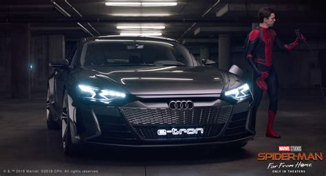 Spiderman Goes Electric, Takes A Spin In The Audi E-tron