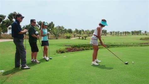 Golfer Hits Ball From Sand Trap, Slow Motion Stock Footage