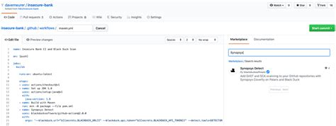 Synopsys adds GitHub Action for SAST and SCA - Security