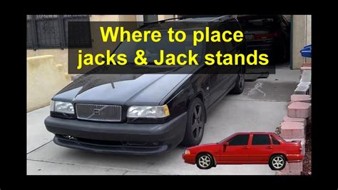Where to install jacks and jack stands on P80 Volvo's
