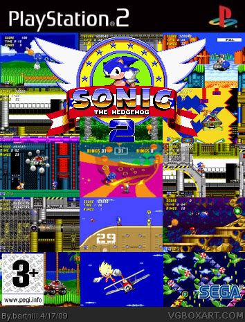 Sonic the Hedgehog 2 PlayStation 2 Box Art Cover by bartnill