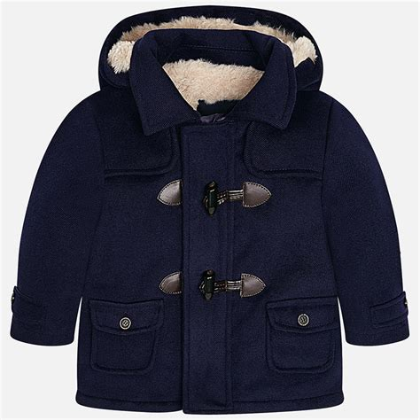 Mayoral Baby Boy Faux Fur Lined Duffle Coat | Yogaso Boutique