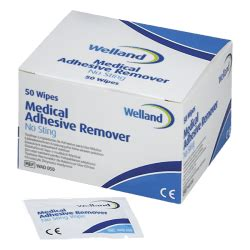 Medical Adhesive Remover Wipes - Welland Medical